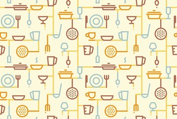 Cooking background. Vector illustration