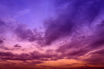 Colorful sky and cloud in twilight background