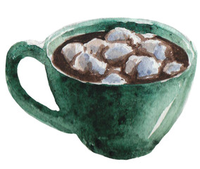 Watercolor coffee,