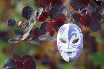 Mask on a natural background, the concept we all wear masks