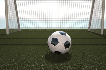 Football in front of goal