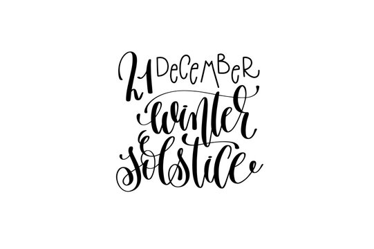 winter solstice hand lettering congratulation inscription