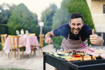 Man making barbecue