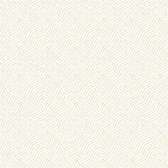 Delicate seamless striped wave pattern. Similar to paper, cloth, textile texture