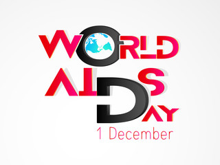 Nice and Beautiful abstract for World AIDS Day with nice and creative design illustration, 1st of December.