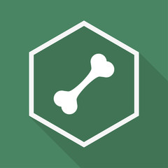 Polygon Button mit Schatten - Knochen