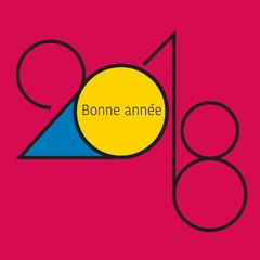 2018 - carte de vœux - design - entreprise - carré -graphique - élégante - chic - bonne année