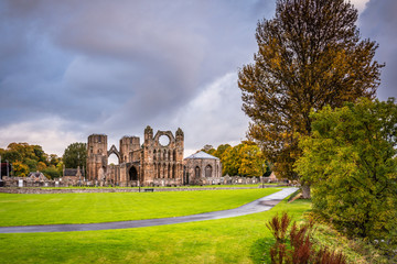Elgin Cathedral in Autumn / The medieval ruin of Elgin Cathedral was built on the banks of the River Lossie in the thirteenth century