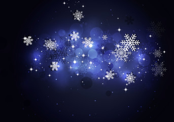 Abstract Snow Blue Background