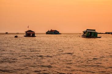 Floating village on Lake Tonle Sap, Cambodia