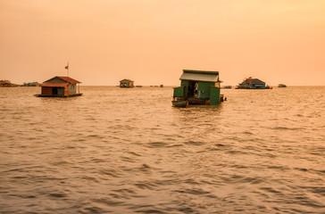 Floating village on Lake Tonle Sap