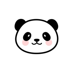 Cute Panda Face Vector Icon