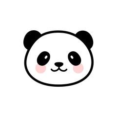 Cute Panda Face Vector Icon