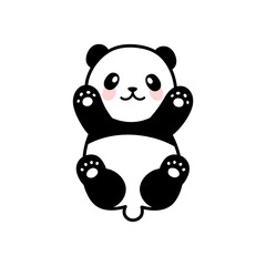 Cute Panda Vector Icon