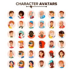 People Avatars Collection Vector. Default Characters Avatar. Cartoon Flat Isolated Illustration