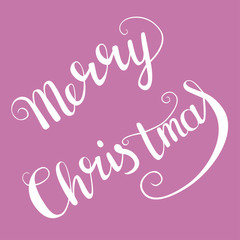 Merry Christmas. Hand drawn lettering for cards, posters, gifts etc.