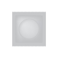 condom package icon- vector illustration