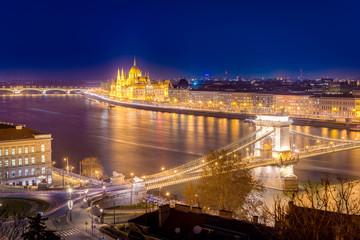 Danube River in Budapest in Hungary