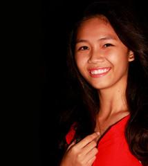 Young teenger Filipina wearing a smile