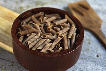 uncooked buckwheat penne rigate