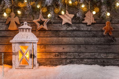 christmas decoration on wooden background stockfotos und. Black Bedroom Furniture Sets. Home Design Ideas