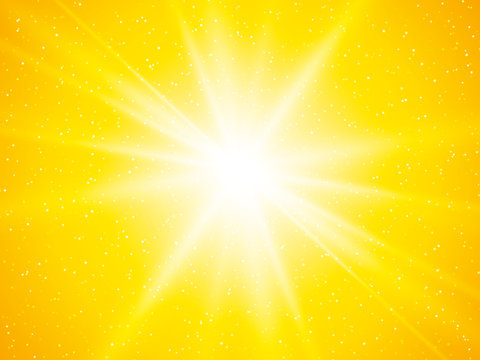 yellow sun rays and dots abstract background