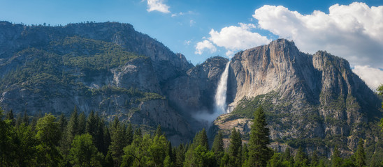 Upper Falls Panorama in Yosemite National Park  Wall mural