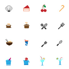 Set of food and drinks icons