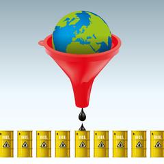 pétrole - carburant - essence - puits de pétrole - terre - énergie - concept - énergétique - ressource - baril