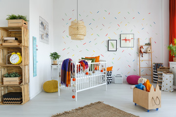 Eco furniture in child's room