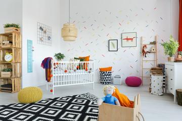 Scandinavian style baby's room