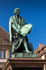 Statue of Johannes Gutenberg in the Strasbourg