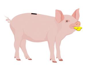 the piggy bank vector design