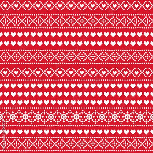 Seamless Christmas Pattern Scandinavian Sweater Style Xmas Enchanting Christmas Pattern