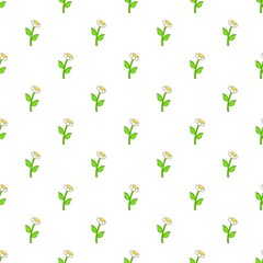 Daisy pattern, cartoon style