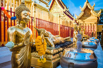 Wat Phra That Doi Suthep temple in Chiang Mai, Thailand.