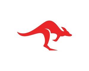 Kangaroo icon logo design template