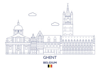 Ghent City Skyline, Belgium