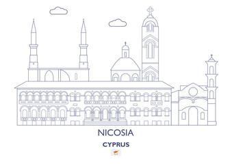 Nicosia City Skyline, Cyprus