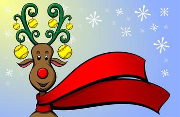 Christmas Reindeer Softball