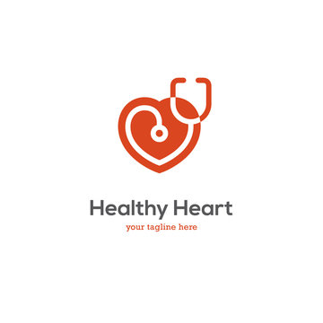 Heart logo with stethoscope.