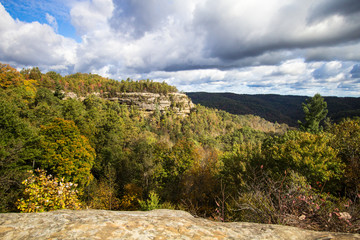 Kentucky Appalachian Mountain Landscape. Overlook of the Appalachian Mountains from the Natural Bridge State Park in Slade, Kentucky.