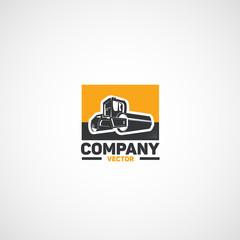 Vector asphalt compactor logo.