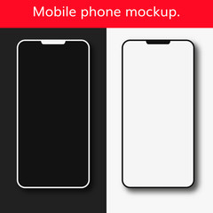 mobile phone mockup vector