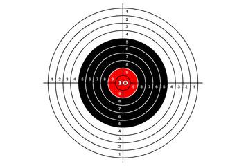 Target shooting simple, vector