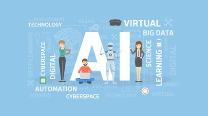 AI concept illustration.