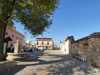 Villa de Alarcon, Cuenca. Conjunto historico en Castilla la Mancha, España