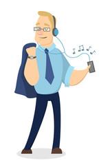 People listen music.
