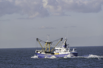 Fishing boat on the North sea