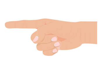 the hand symbol vector design
